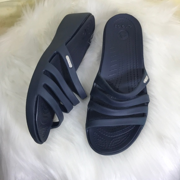 f1b82828432 CROCS Shoes - Crocs Rhonda Wedge Pump